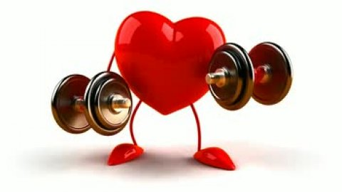cute heart working out